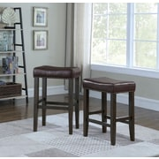 Alcott Hill Wadsworth 24'' Bar Stool; Brown