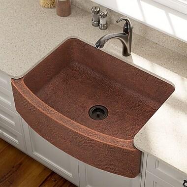 MRDirect Front Copper 33'' x 25'' Farmhouse/Apron Kitchen Sink