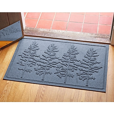 Red Barrel Studio Conway Fir Forest Doormat; Bluestone