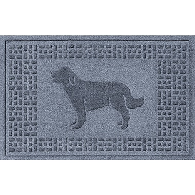 Red Barrel Studio Conway Golden Retriever Doormat; Bluestone