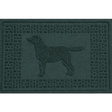 Red Barrel Studio Conway Labrador Retriever Doormat; Evergreen