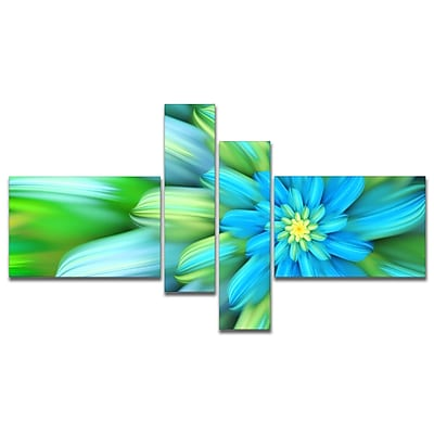 East Urban Home 'Massive Green Fractal Flower' Graphic Art Print Multi-Piece Image on Canvas