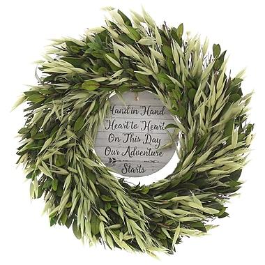 Gracie Oaks Hand in Hand 10'' Wreath