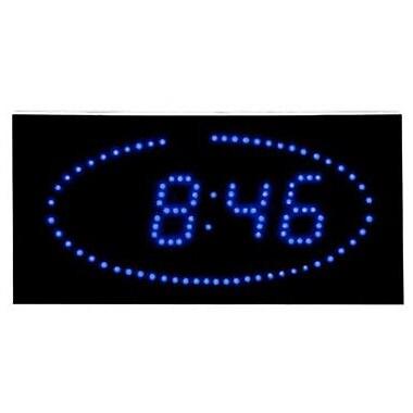 Latitude Run Scheffel Super Bright LED Ellipse Blue LED DOT Clock