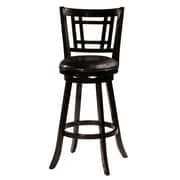 World Menagerie Mersin 25'' Swivel Bar Stool; Black