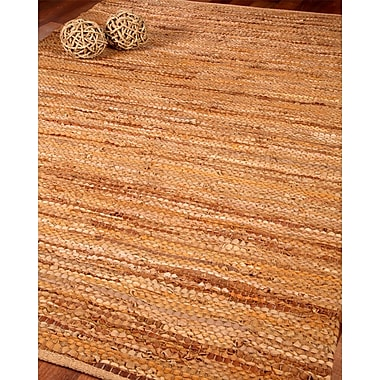August Grove Turnage Leather Hand Loomed Area Rug; 9' x 12'