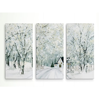 Alcott Hill 'Christmas Lane' Acrylic Painting Print Multi-Piece Image on Wrapped Canvas