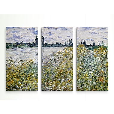 Alcott Hill 'Le Aux Fleurs Near V theuil' Acrylic Painting Print Multi-Piece Image on Wrapped Canvas