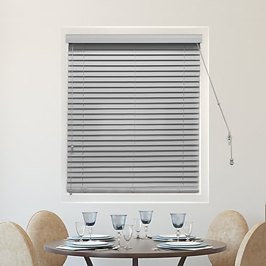 Alcott Hill Faux Wood Blackout Horizontal/Venetian Blind; 29'' W x 64'' L