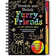 Scratch and Sketch Trace-Along Art Activity Books