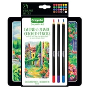 Crayola 24ct Blend & Shade Colored Pencils with Tin