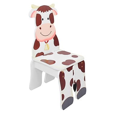 Teamson Fantasy Fields Happy Farm Chair, Cow (TD-11324A2-C)