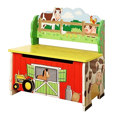 Teamson Fantasy Fields Happy Farm Storage Bench (TD-11325A)