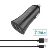 Axessorize PROCharge Car Charger + USB-C Cable (AXCARUSBC)