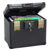 Honeywell 0.60 cu. ft. Waterproof  1/2 Hour UL Fire Letter Size File Chest, Black (1106)