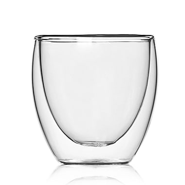 Minimal Double Wall Glass, 9oz, 2/Pack