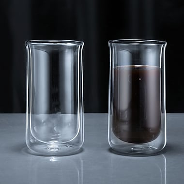 Minimal Double Wall Glass, 12oz, 2/Pack