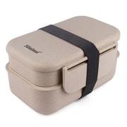 Minimal Natural Fiber Bento Box Plus, 1200ml
