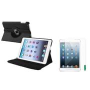 Insten Black Leather Case+2 Packs Anti-Glare Protector For iPad Mini 2 3 (Supports Auto Sleep/Wake) (1013318)