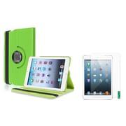 Insten Green Leather Case+2 Packs Anti-Glare Protector For iPad Mini 2 3 (Supports Auto Sleep/Wake) (1013324)