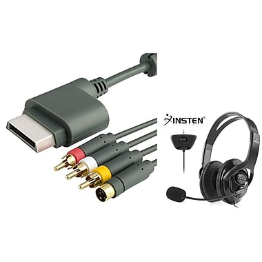 Insten® 2-Piece Game Cable Bundle For Microsoft Xbox 360(1034341)