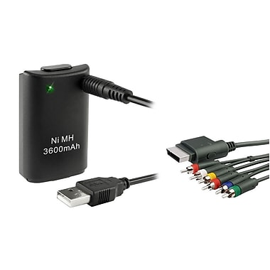 Insten® 1034872 2-Piece Game Battery Bundle For Microsoft Xbox 360 Slim
