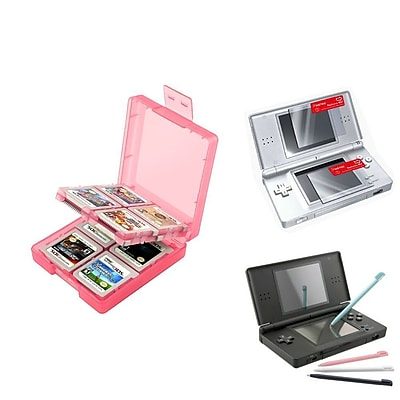 Insten® 1034959 3-Piece Game Case Bundle For Nintendo DS/DS Lite/DSi/DSi LL/XL