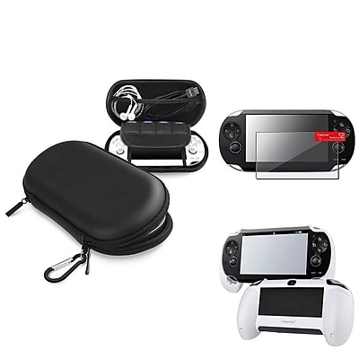 Insten® 1035022 3-Piece Game Case Bundle For Sony PlayStation Vita/Vita 2000