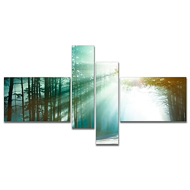 East Urban Home 'Magic Blue Forest' Photographic Print Multi-Piece Image on Canvas