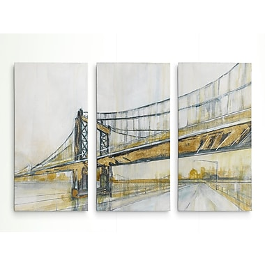 Williston Forge 'Brooklyn Rain' Acrylic Painting Print Multi-Piece Image on Wrapped Canvas