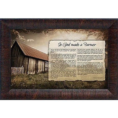 August Grove 'So God Made A Farmer' Framed Graphic Art