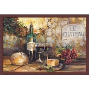 'Le Chateau Wines/Cheese/Grapes/Bread/Country Tuscan' by Marilyn Hageman Framed Painting Print