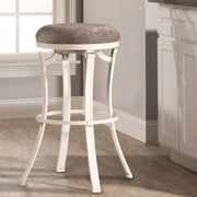 Loon Peak Karsten Swivel Bar Stool; White