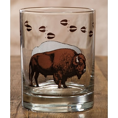 Loon Peak Adele Bison Double 14 oz. Glass Cocktail Glass (Set of 4)