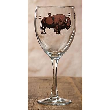 Loon Peak Adeline Bison Glass 16 oz. Wine Glass (Set of 4)