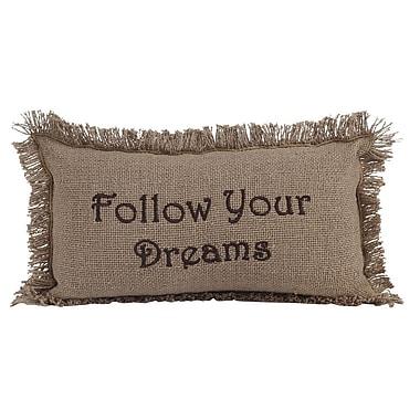 Loon Peak Alcocer Burlap Follow Your Dreams Cotton Lumbar Throw Pillow
