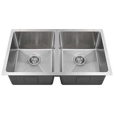 MRDirect Stainless Steel 31'' x 18'' Double Basin Undermount Kitchen Sink