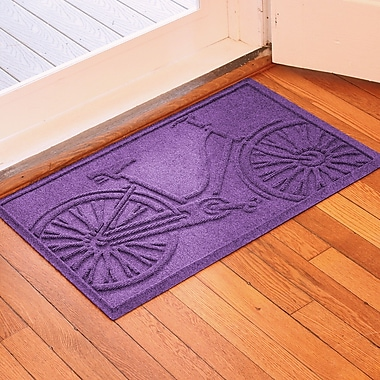 Red Barrel Studio Conway Bicycle Doormat; Purple