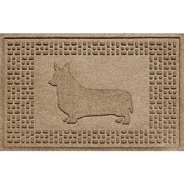 Red Barrel Studio Conway Corgi Doormat; Camel
