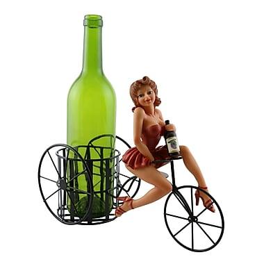 Fleur De Lis Living Ophelia Sexy Lady in Red Dress 1 Bottle Tabletop Wine Rack