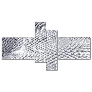 East Urban Home 'Small 3D White Prickly Design' Graphic Art Print Multi-Piece Image on Canvas