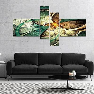 East Urban Home 'Dark Yellow Green Fractal Flower' Graphic Art Print Multi-Piece Image on Canvas