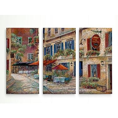 Fleur De Lis Living 'La Chasse Galerie' Acrylic Painting Print Multi-Piece Image on Wrapped Canvas