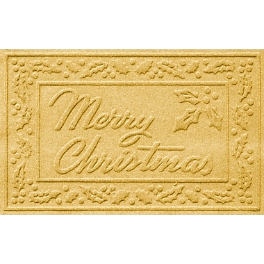 Red Barrel Studio Conway Merry Christmas Doormat; Yellow