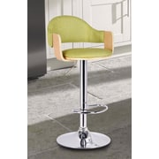 AdecoTrading Adjustable Height Swivel Bar Stool; Lemon Green