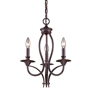August Grove Tarres 3-Light Candle-Style Chandelier