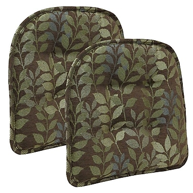 Bay Isle Home Tufted Dining Chair Cushion (Set of 2); Chocolate