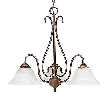 Charlton Home Bridgeforth 3-Light Shaded Chandelier; Bronze