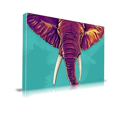 Latitude Run 'Elephant in the Room' Animal Graphic Art on Wrapped Canvas; 40'' H x 60'' W x 1.5'' D