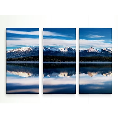 Loon Peak 'Pyramid Lake' Photographic Print Multi-Piece Image on Wrapped Canvas; 24'' H x 36'' W